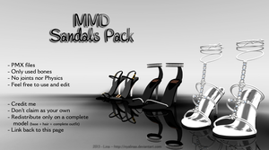 MMD - Sandals Pack [DL] by NyaLinaa