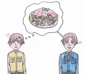 Italy Brothers Dreaming About Pasta by outlire