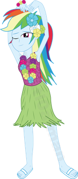 Luau Rainbow Dash by m3Atl0afman