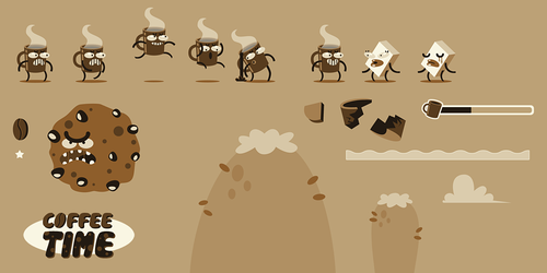 Coffee Time spritesheet by madPXL