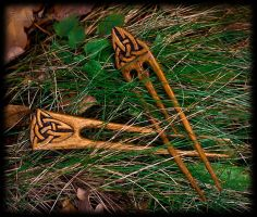 Celtic hairpins by pagan-art