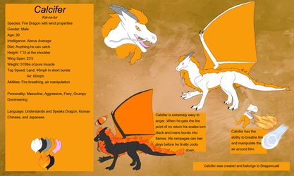 Reference Sheet - Calcifer by DragonCuali