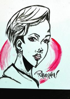 Rihanna in Manga by thedrumergirl