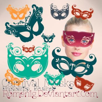Carnival Masks Premium Brushes by Romenig