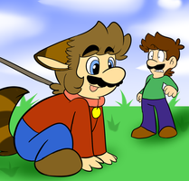 Doggy Mario by raygirl12