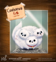 Daily Painting 1740# Monster Shop - Cerberus by Cryptid-Creations