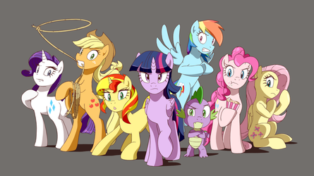 Angry Twilight with Friends by DeannART