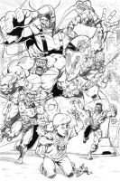 marvel zombies rough pencils by CharlesEttinger
