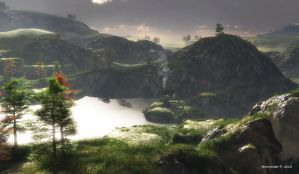 Green oasis: before the storm by faroutsider