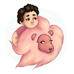 steven and lion by kinoteart