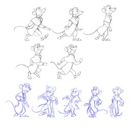 Some walk cycle keyframes by Shagan-fury