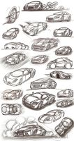 Car sketches 2 by Picolini