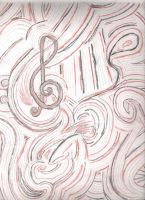Abstractical with Music symbols by SillvrMist