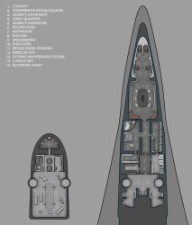 Nubia Star Drives Inc. T-type yacht deckplans by Shoguneagle