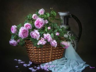 Vintage floral still life by Daykiney
