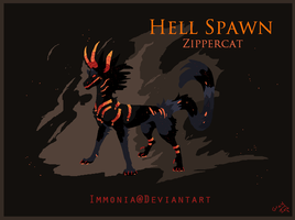 Holiday Zippercat: Hell Spawn [CLOSED] by Immonia