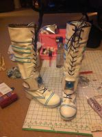 Boots for Raven Angel of Azarath cosplay by TheTofuCupcake