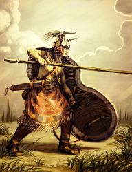 Minoan Spearman by LordGood