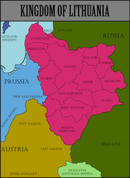 Kingdom of Lithuania 1817 by ThePrussianRussian