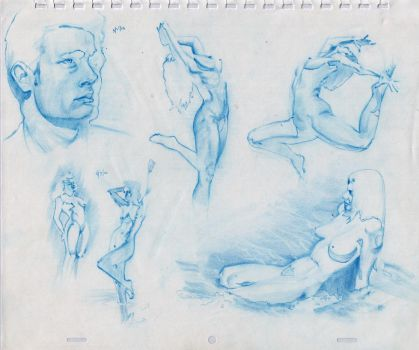 Various portrait and figure studies by Alex Bodnar by Taurine75