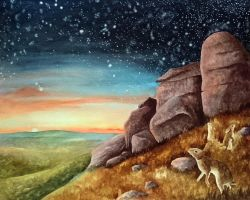 Stargazers at Hare Tor by BecciES