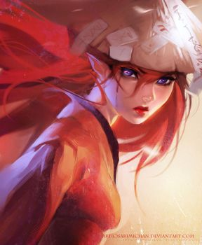 Red Wind by sakimichan