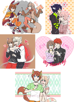 All the lovely couples (commission) by PlatinaSi