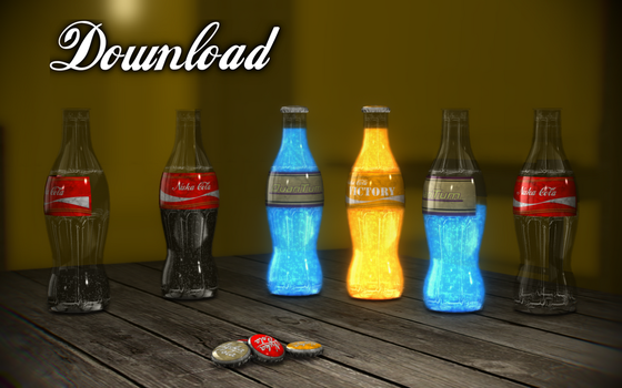 [MMD] Nuka-Cola bottles [download] by Wampa842