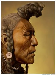 Bear Bull - Blackfoot by wendelin