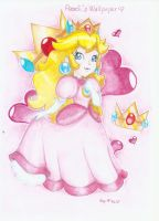 .:Peach's Wallpaper:. by PrincessPeachFanLove
