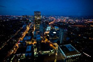 Boston at Night by andyietok