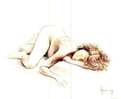Life Drawing Nude 1728 by Valnor
