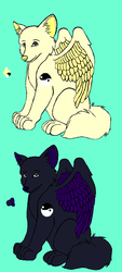 Yin and Yang Winged Wolf Auction CLOSED by Shadoe-Adopts
