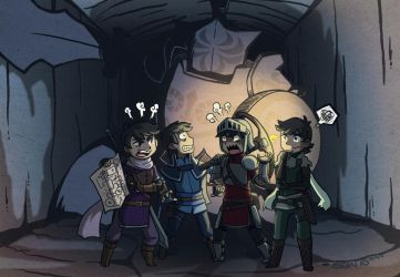 The Four Stooges In: Dungeons and Doofuses by tazsaints