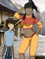 Korra and Jinora (reupload) by chupipupi10