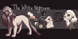 The White Nightress. Lioness Auction. CLOSED: by BeeStarART