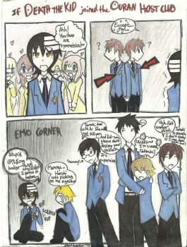 If Death the Kid joined Ouran by dragonartist22