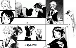 Hitsugaya + Hinamori wallpaper by Ninja99k