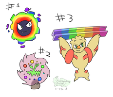 {2/3 OPEN} Rainbow Pokemon Adopts #1
