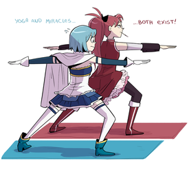 Sayaka and Kyouko by montiray