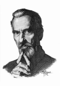 Sir Christopher Lee by mvitacca