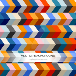 Colorful Zig Zag Background Free Vector by 123freevectors