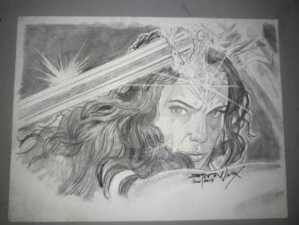 Wonder Woman pencil drawing by StevenWilcox