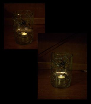 Spiderweb Candle by amorphious