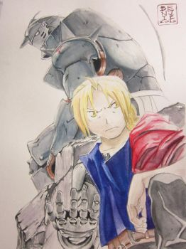 Elric Brothers (watercolor) by lolbenjo