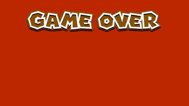 Super Mario 3D World Game Over Screen Template by Sandrag1