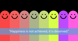 Happiness colorful [FREE PSD] by LazoBaa