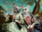 Pearl an Maxine. oil painting by sololupo