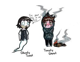 Toasty Ghost and Ghosty Toast - VT by InvaderEvi