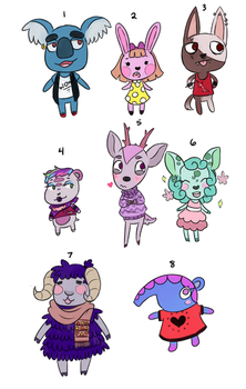 Acnl Adopts $3/300pts [OPEN] by nikki45e